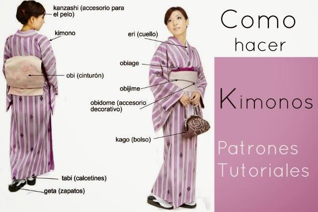 Como hacer un Kimono.Patron y Curiosidades... Tutoriales