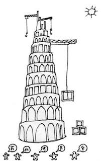 Colorear La Torre De Babel Dibujos Infantiles Imagenes Cristianas