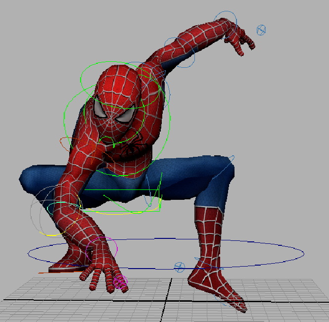 Poses Spider Man Drawing