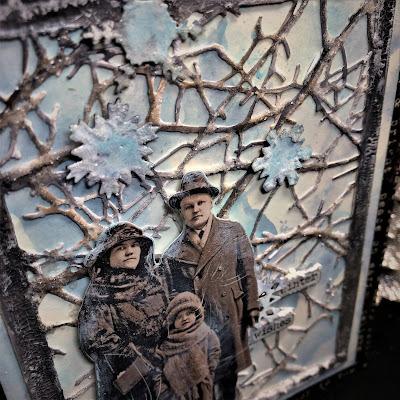 Sara Emily Barker https://sarascloset1.blogspot.com/2018/10/wishful-thinking-winter-card.html Wishful Thinking Winter Card with Tim Holtz Sizzix Alterations Ideaolgy Ranger Products 7