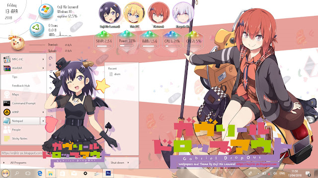 Windows 10 Ver. 1803 Theme `Gabriel Dropout by Enji Riz