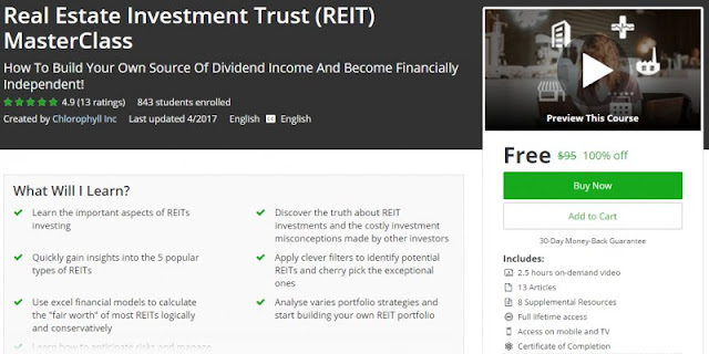 [100% Off] Real Estate Investment Trust (REIT) MasterClass| Worth 95$