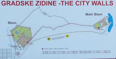 Plano de Ston y sus murallas, Croacia