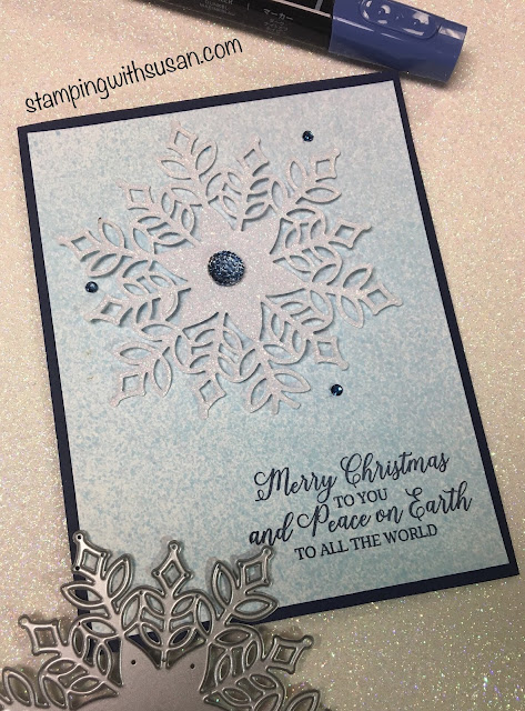 Stampin' Up!, Snowfall Thinlits, Snowflake Showcase, www.stampingwithsusan.com, Snow is Glistening