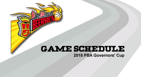 LIST: San Miguel Beermen Game Schedule 2018 PBA Governors' Cup