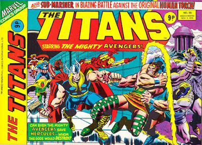 Marvel UK, the Titans #55, Avengers and Hercules