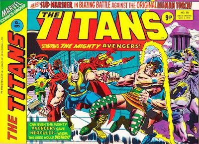 Marvel UK, the Titans #55, Avengers and Hercules