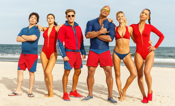 The lifeguard team of Emerald Bay in BAYWATCH (2017)