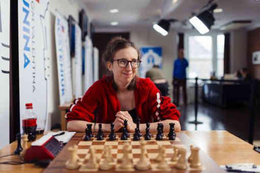 Marie Sebag déçoit face à Anna Zatonskih. La Française termine à la 8ème place du tournoi à 3 points sur 9 (1 victoire, 4 nulles et 4 défaites) - Photo © Austin Fuller