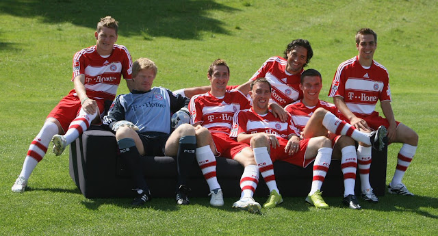 Oliver kahn,Bastian Schweinsteiger, Miroslav Klose,Philipp lahm, Franck Ribéry