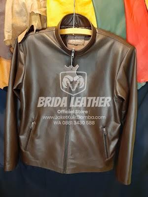 Jual Jaket Kulit Asli Garut Pria Domba Original Brida Leather M06 | WA 08813430588