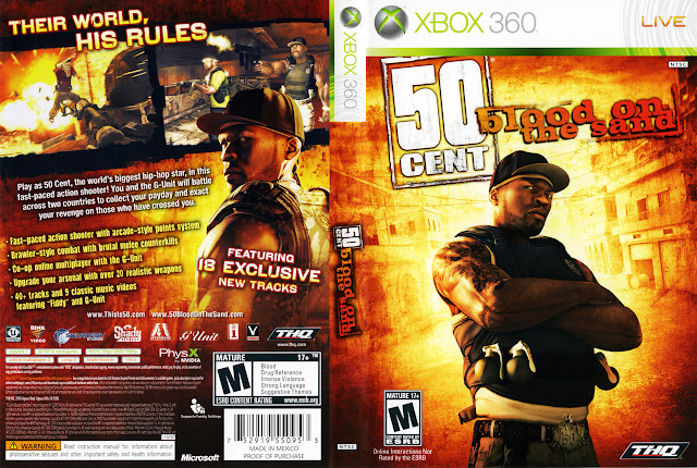 Capa xBox360 50 Cent Blood on the Sand