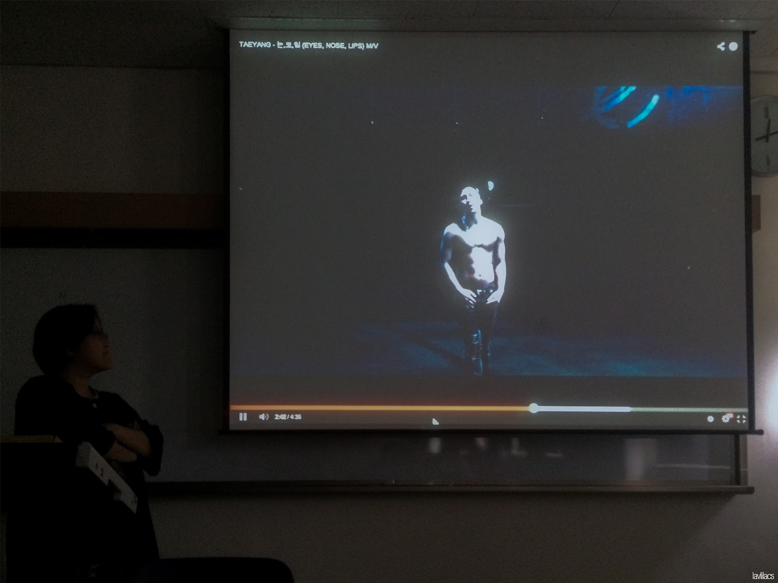 Seoul, Korea - Summer Study Abroad 2014 - Watching Taeyang in class