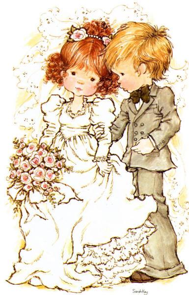 Desenho de Sarah Kay - Casamento