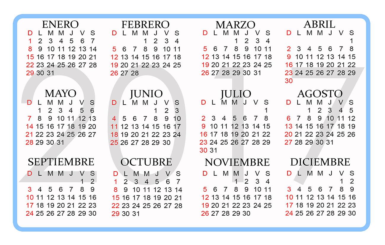 Calendario 2017, más de 150 plantillas para imprimir y descargar ...