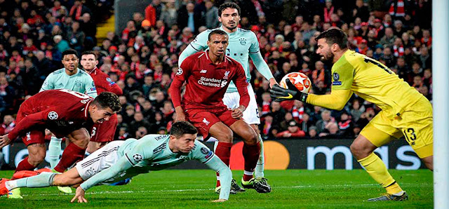 El partido de ida quedó igualado a cero goles entre Liverpool y Bayern de Múnich
