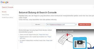 selamat datang di google search console