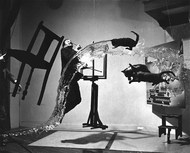 a photograph of Dali by Gjon Mili