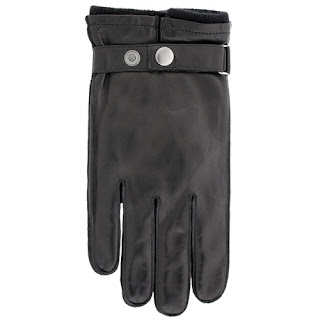 Leather and Cashmere Mens gloves