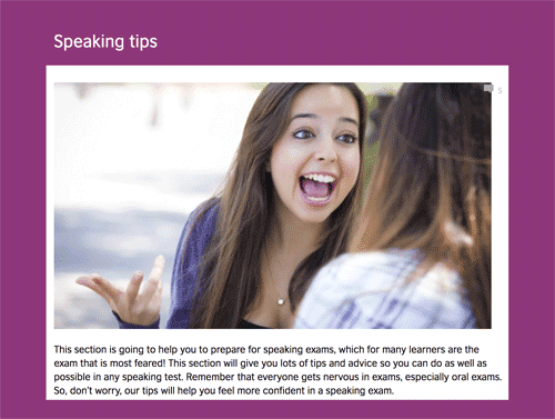 Speaking tips for oral exams