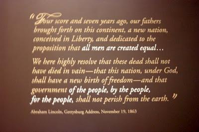 The Gettysburg Address in Gettysburg Pennsylvania