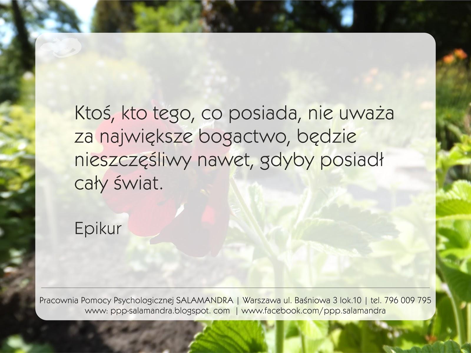 Epikur o bogactwie i szczęściu