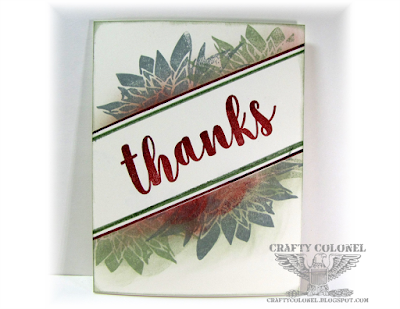 CraftyColonel Donna Nuce, Club Scrap Succulents kit, Thank you card