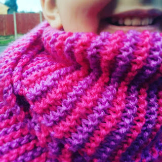 Top Ender and her Pink and Purple Scarf