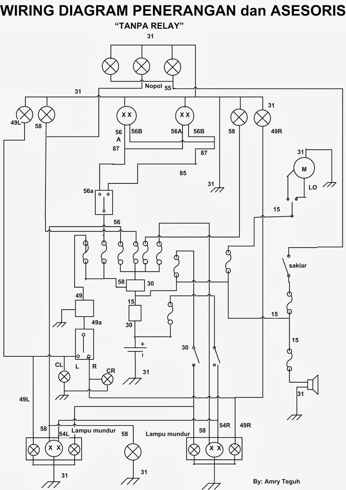 Amry tomBLOG KTW: wiring diagram penerangan dan asesoris mobil
