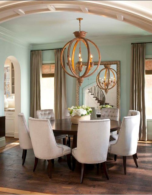 floor mirror dining room round table