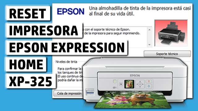 Reset impresora EPSON Expression Home XP-325