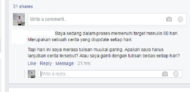 Tulisan saya jelek bagaimana agar bisa menjadi bagus, tips dan trik menulis, Bang Syaiha, http://bangsyaiha.com/