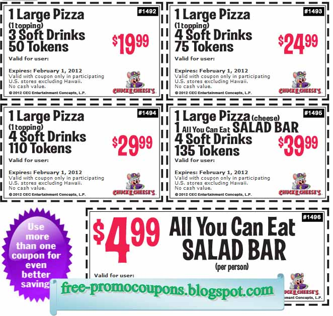 printable coupons chuck e cheese 2019