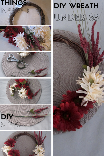 Overview of DIY Wreath:  Things Needed, DIY Steps, and Final Result - Under $5