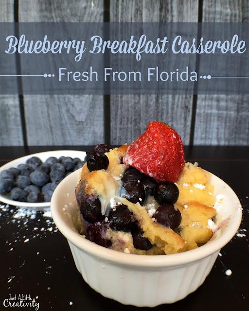 fresh from Florida blueberry breakfast casserole
