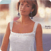 Top Blanco con Tirantes a Crochet