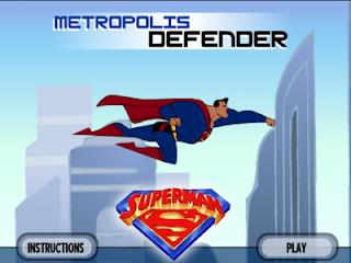 لعبة سوبر مان يحمى مدينة متربلوس اون لاين بدون تحميل