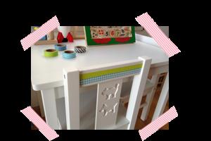 cuchikind diy blog basteln und n hen f r kinder ikeahack kindertisch mit washi tape. Black Bedroom Furniture Sets. Home Design Ideas