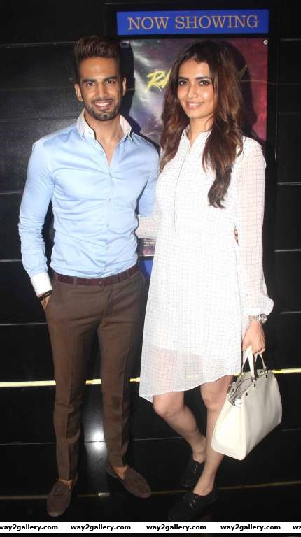 Karishma Tanna and Upen Patel were among the TV celebrities at the special screening of Tere Bin Laden Dead or Alive