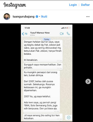 TGB Ungkap Kesaksian Yusuf Mansur soal Keislaman Jokowi