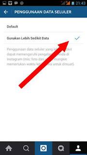 menu hemat data instagram