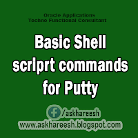 Basic Shell scriprt commands for Putty, AskHareesh.blogspot.com