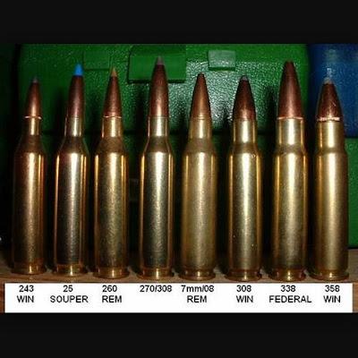 Cartridges on display