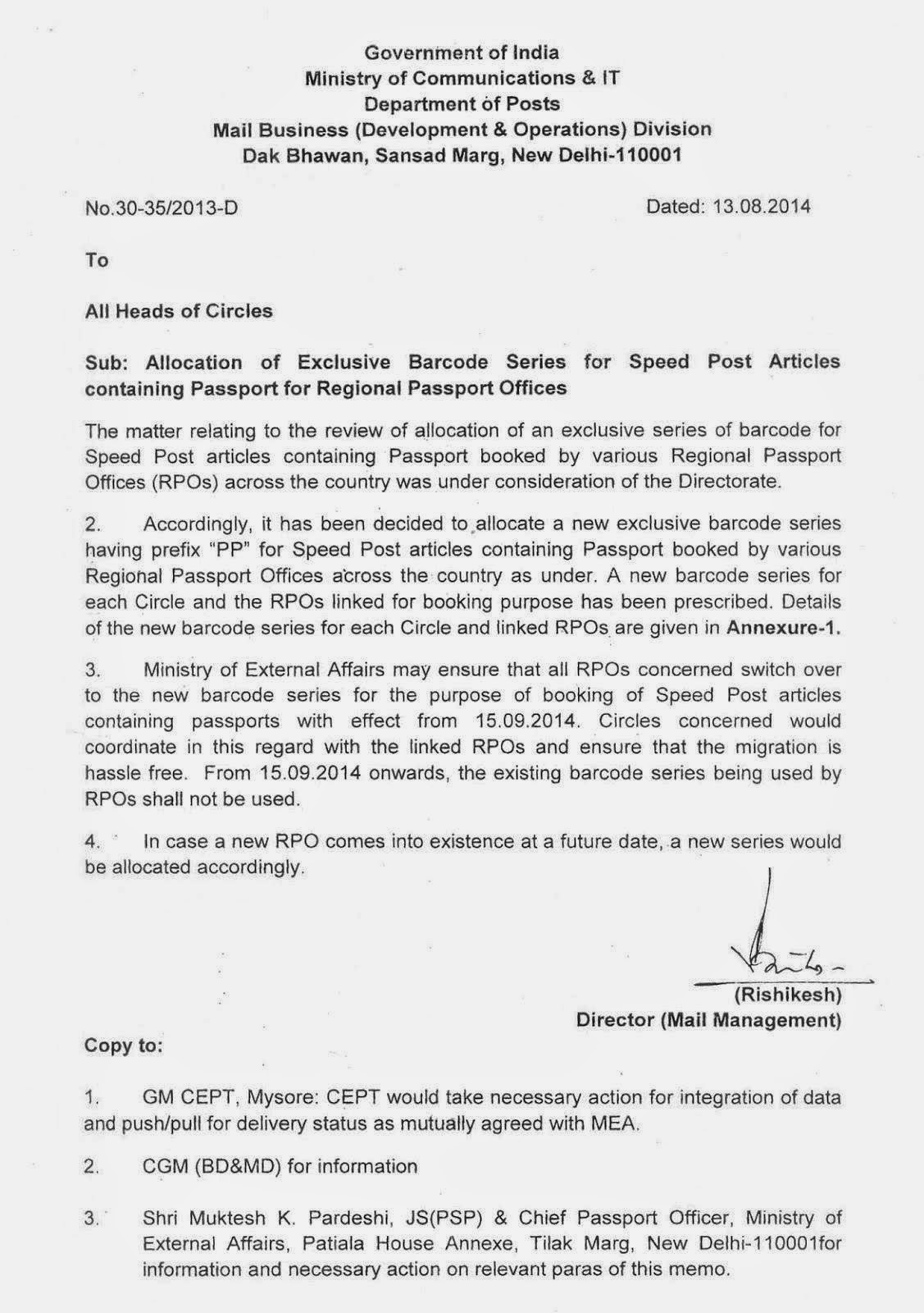 Delhi India Postal Code National Federation Of Postal Employees Speed Post