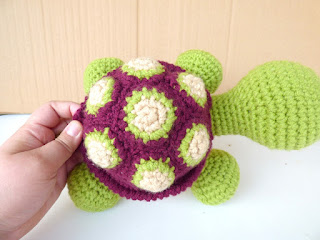 Crochet Turtle Amigurumi Stuffed Animal Toy