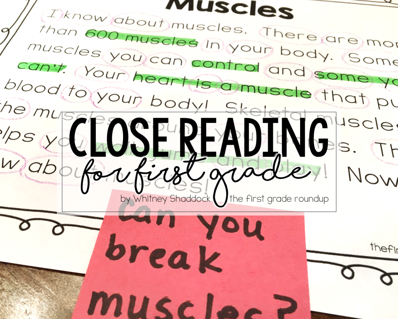 Close Reading In First Grade