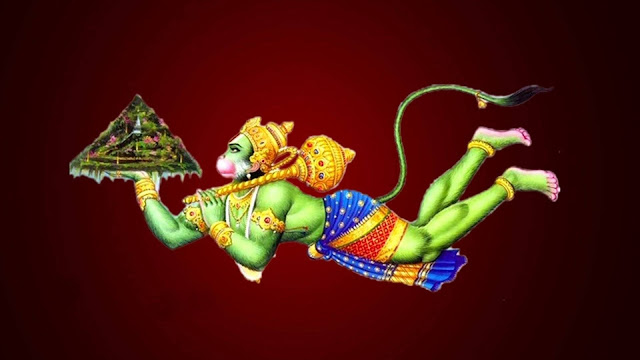 God Hanuman HD Wallpaper In Red Background