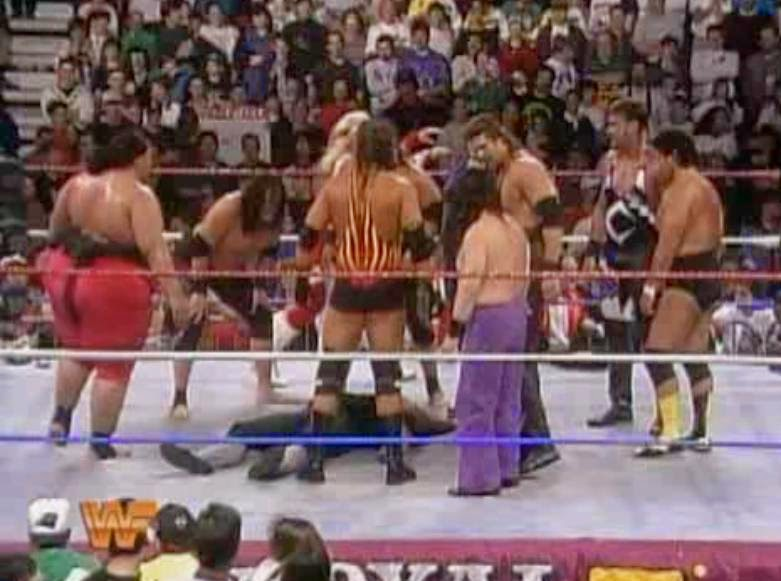 WWF / WWE ROYAL RUMBLE 1994: Yokozuna got help in defeating The Undertaker