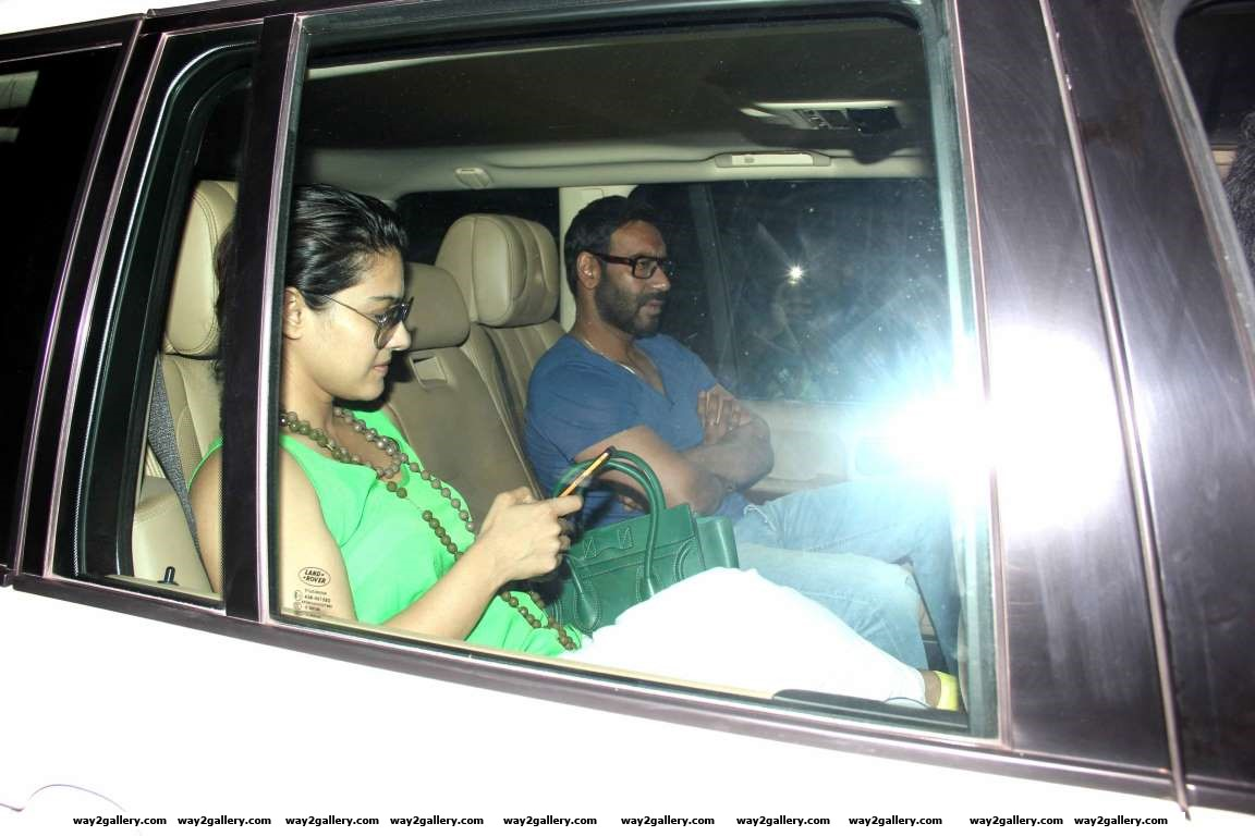 We spotted Bollywood couple Ajay Devgn and Kajol outside the actors office in Mumbai
