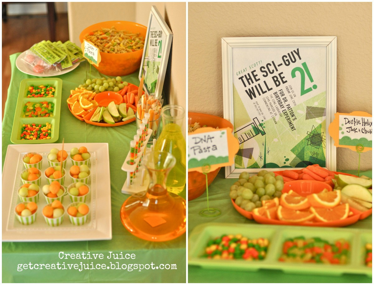 Mad Science Party Food Ideas